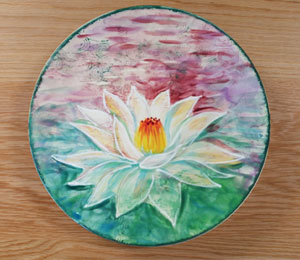 Long Beach Lotus Flower Plate