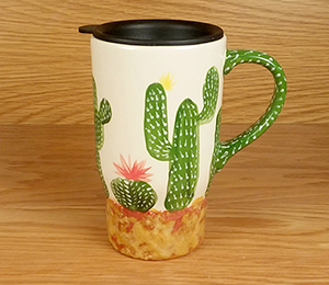 Long Beach Cactus Travel Mug