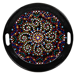 Long Beach Mosaic Mandala Tray