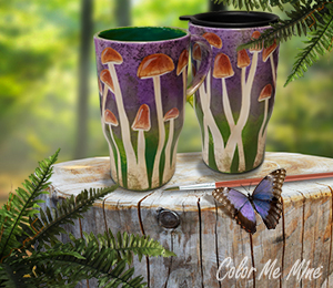 Long Beach Mushroom Mugs