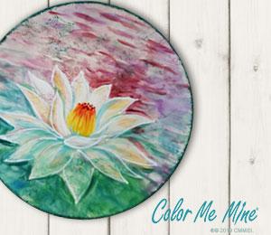Long Beach Lotus Flower Plate