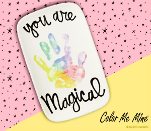 Long Beach Rainbow Hand-print