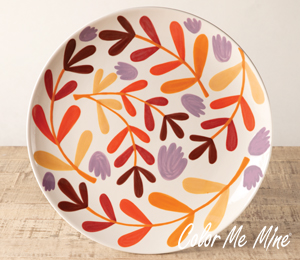 Long Beach Fall Floral Charger