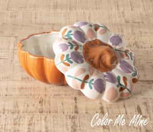 Long Beach Floral Pumpkin Box