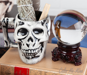Long Beach Antiqued Skull Mug