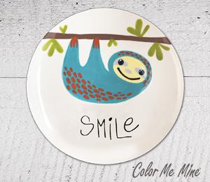 Long Beach Sloth Smile Plate