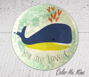 Long Beach Whale Love Plate