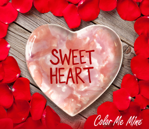 Long Beach Candy Heart Plate