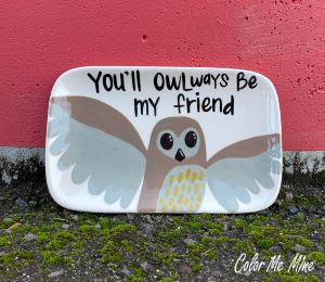 Long Beach Owl Plate