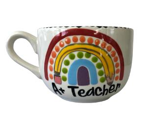 Long Beach Polka Dot Rainbow Mug
